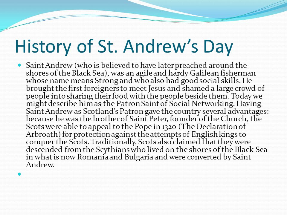History of St. Andrew's Day