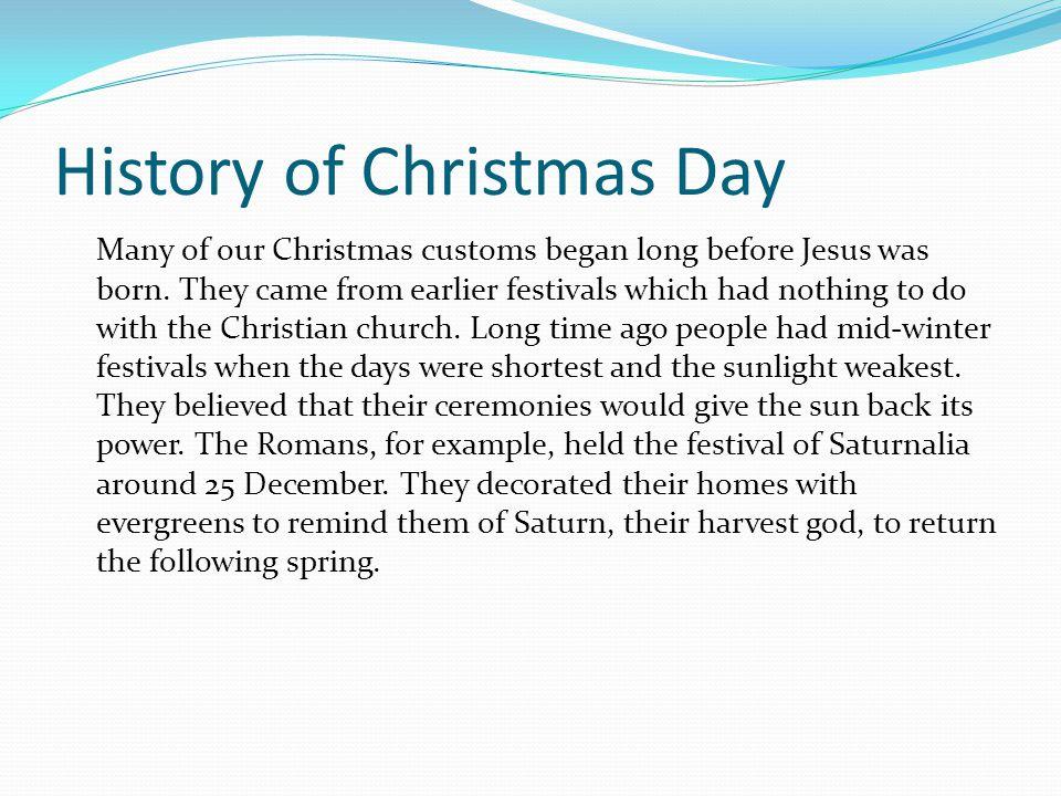 History of Christmas Day