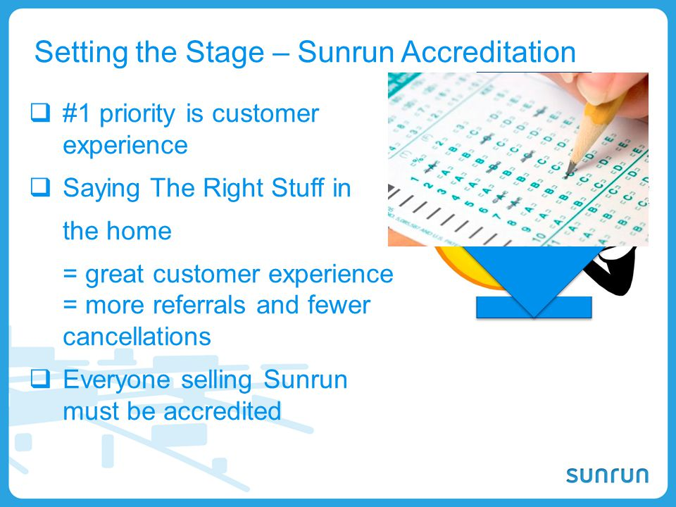 Setting the Stage – Sunrun Accreditation