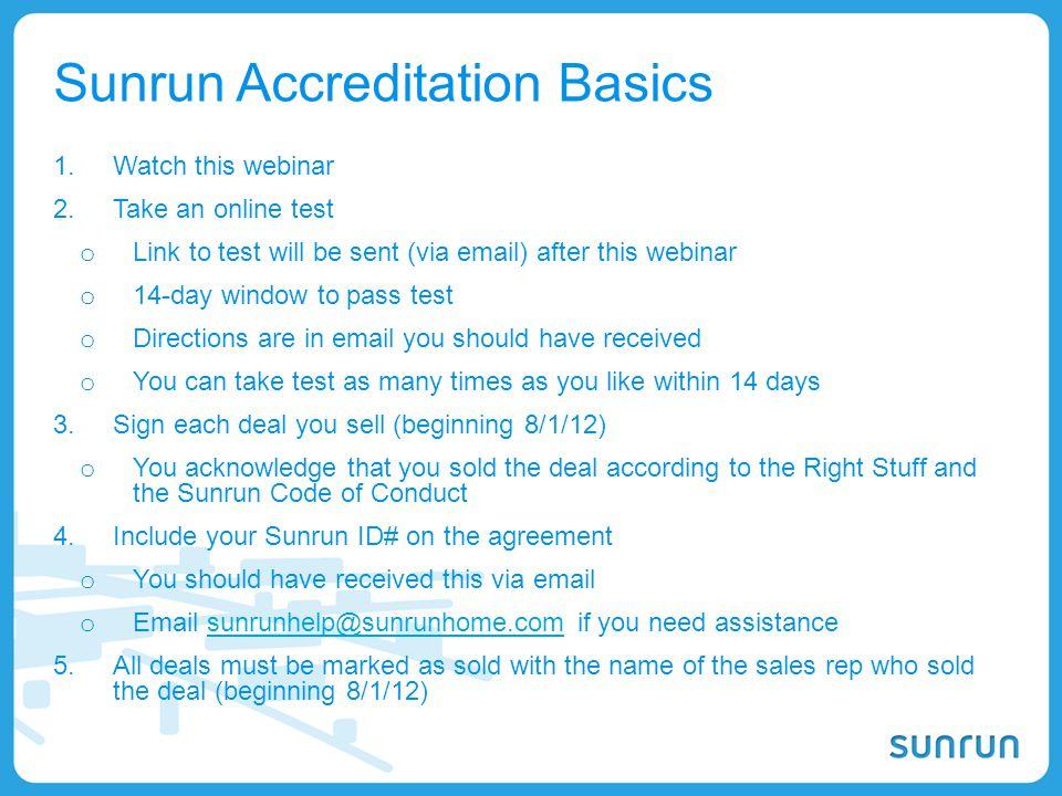 Sunrun Accreditation Basics