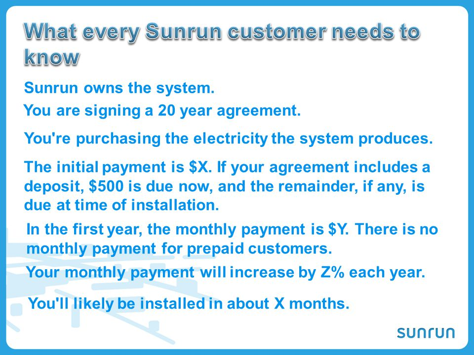 What every Sunrun customer needs to know