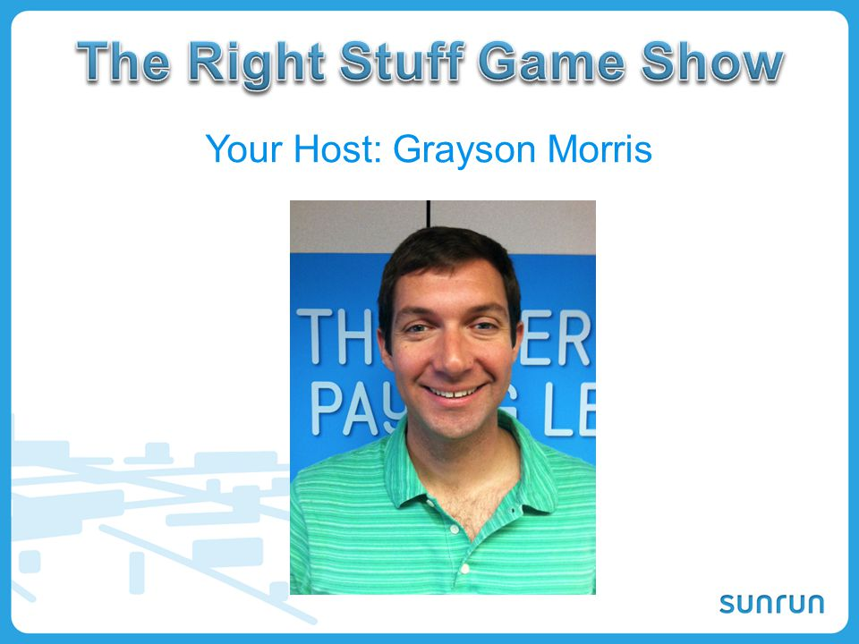 The Right Stuff Game Show