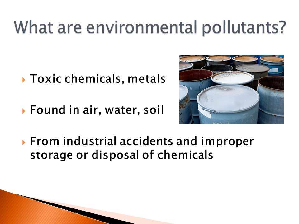 What are environmental pollutants