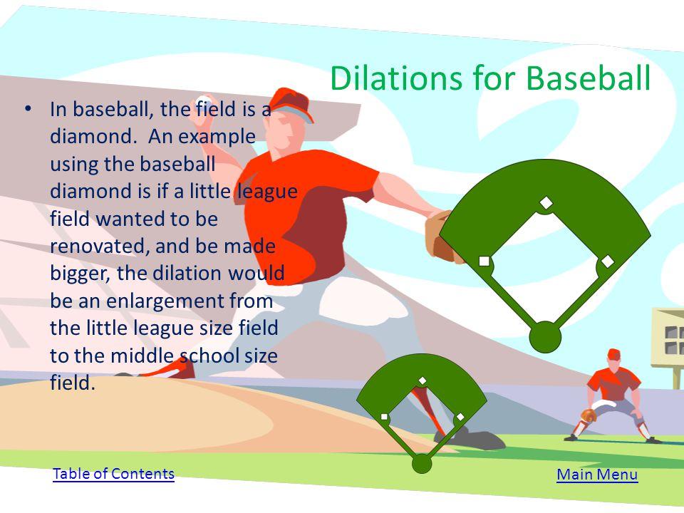 Dilations for Baseball