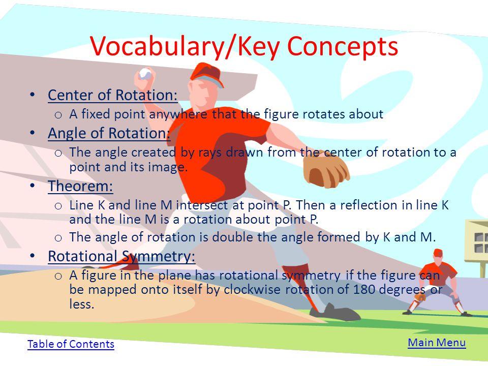 Vocabulary/Key Concepts