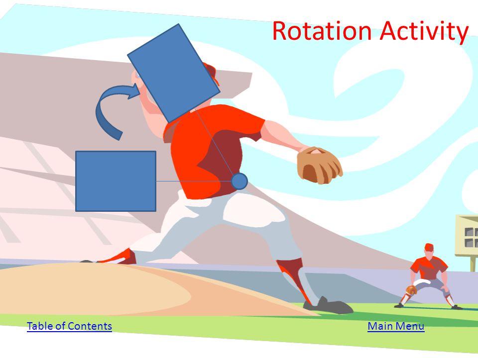 Rotation Activity Table of Contents Main Menu