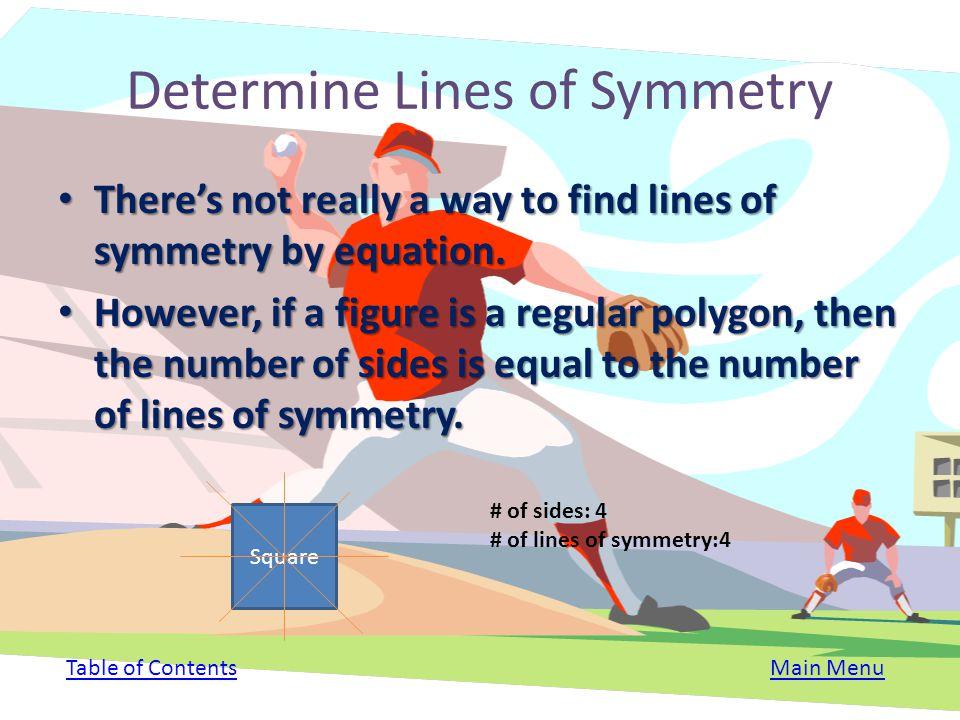 Determine Lines of Symmetry