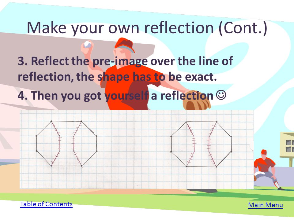 Make your own reflection (Cont.)