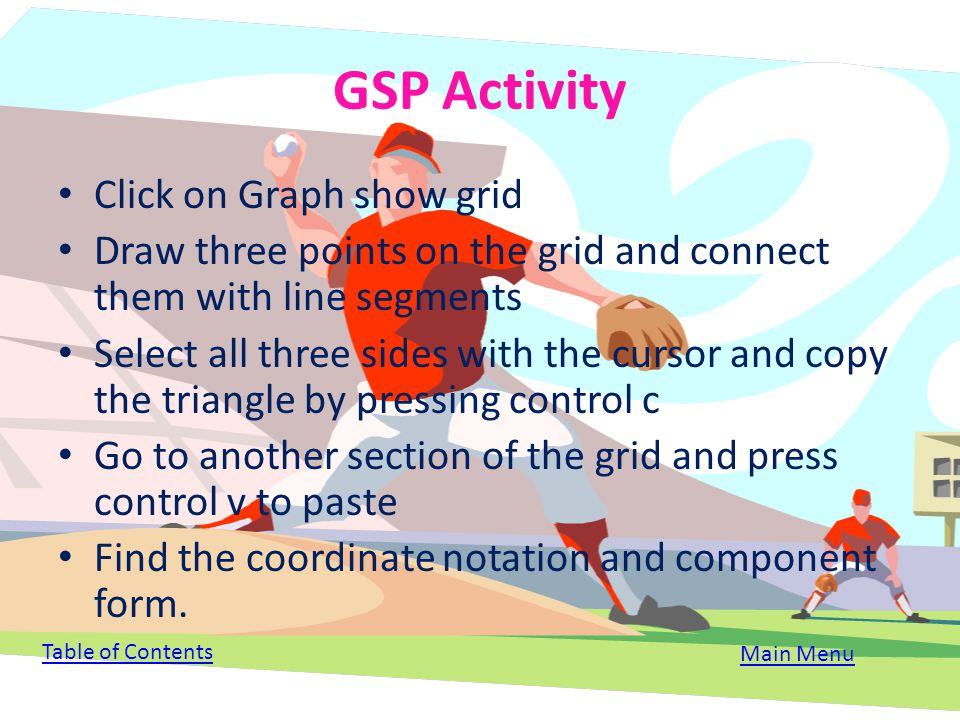 GSP Activity Click on Graph show grid