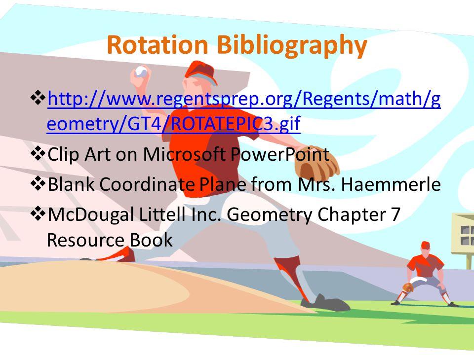 Rotation Bibliography