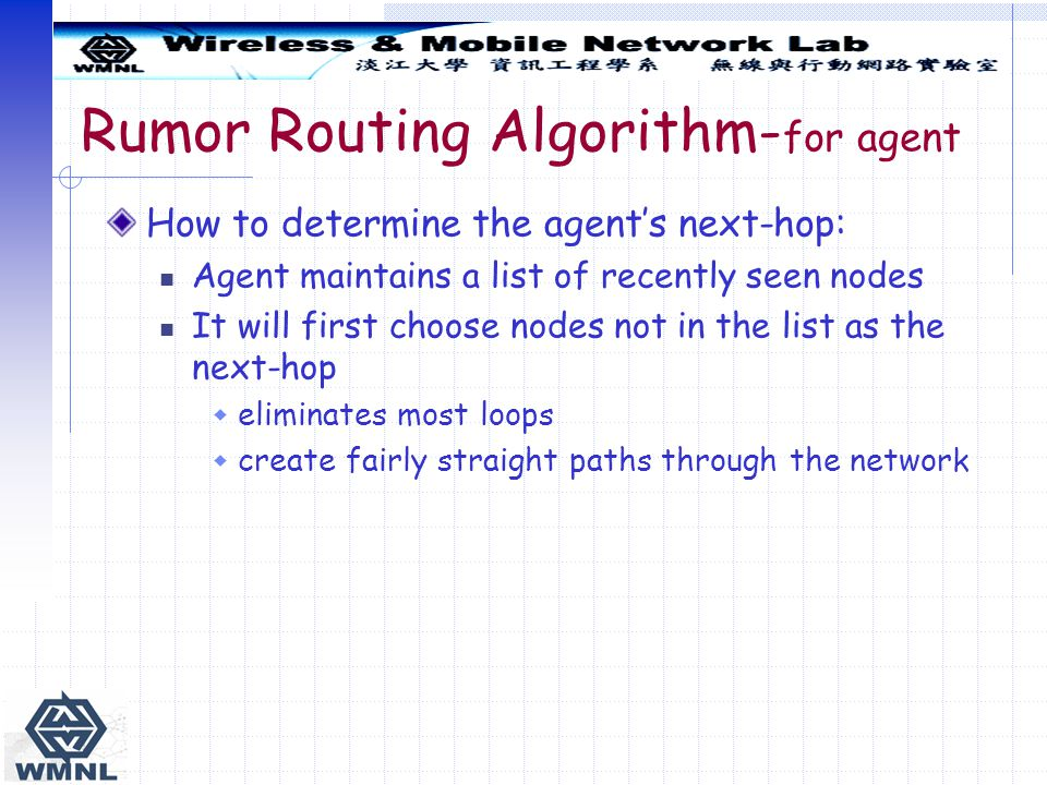 Rumor Routing Algorithm-for agent