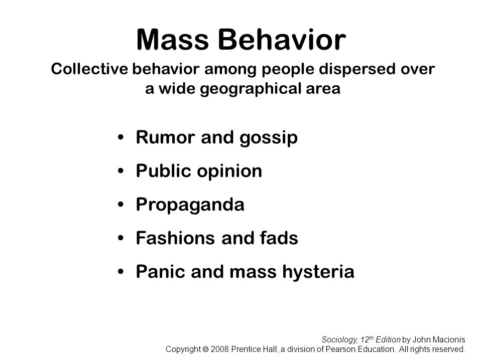 Mass Behavior Rumor and gossip Public opinion Propaganda