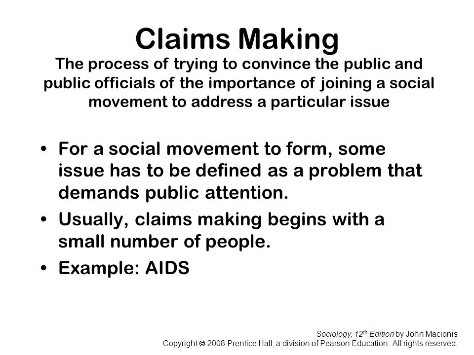 Claims Making