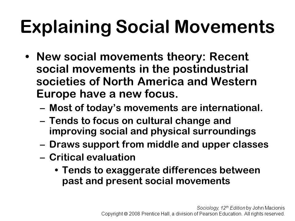 Explaining Social Movements