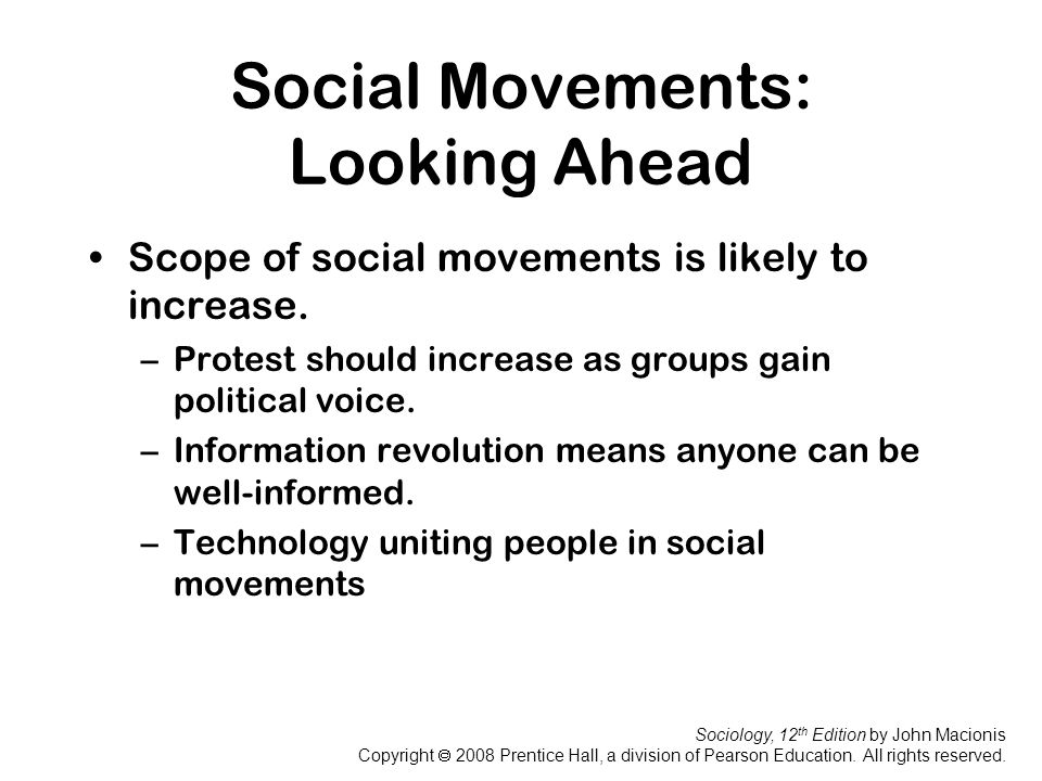 Social Movements: Looking Ahead