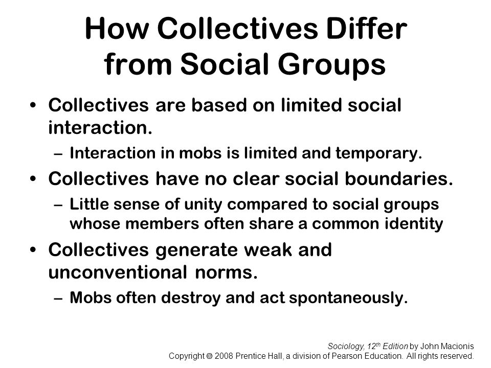 How Collectives Differ from Social Groups