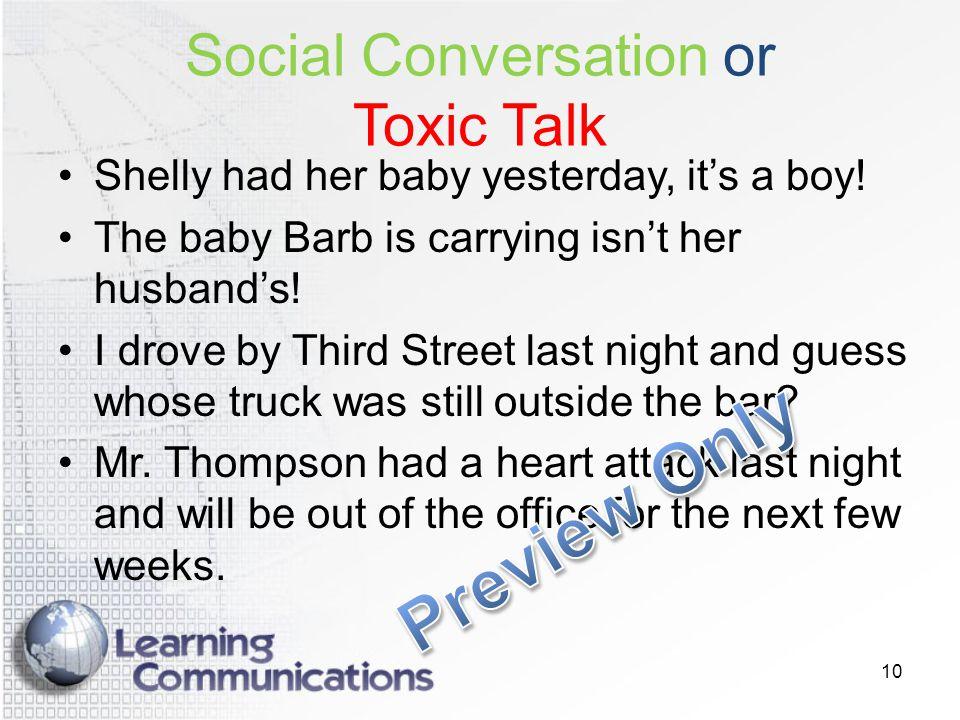 Social Conversation or Toxic Talk