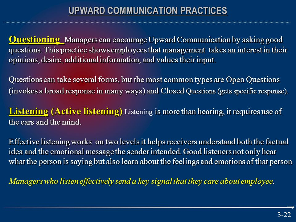 UPWARD COMMUNICATION PRACTICES