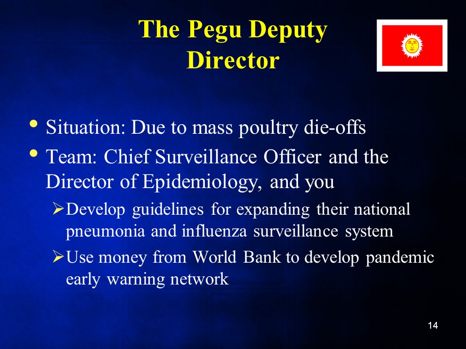 The Pegu Deputy Director