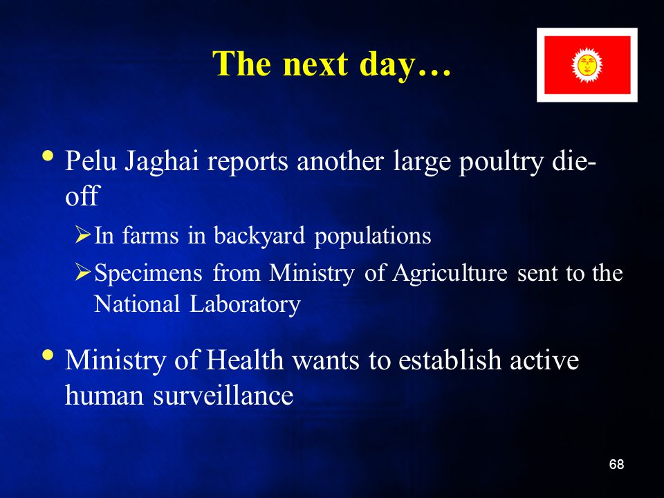 The next day… Pelu Jaghai reports another large poultry die-off