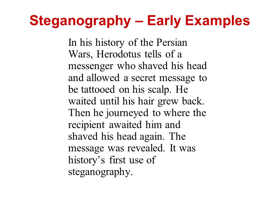 Steganography – Early Examples