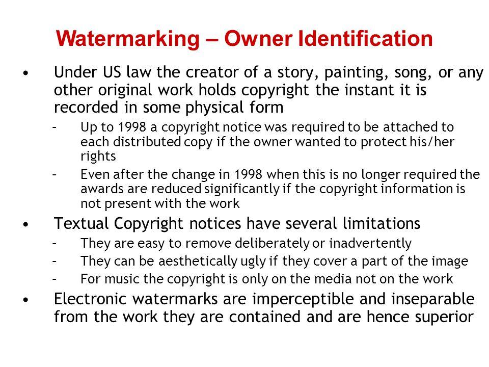 Watermarking – Owner Identification