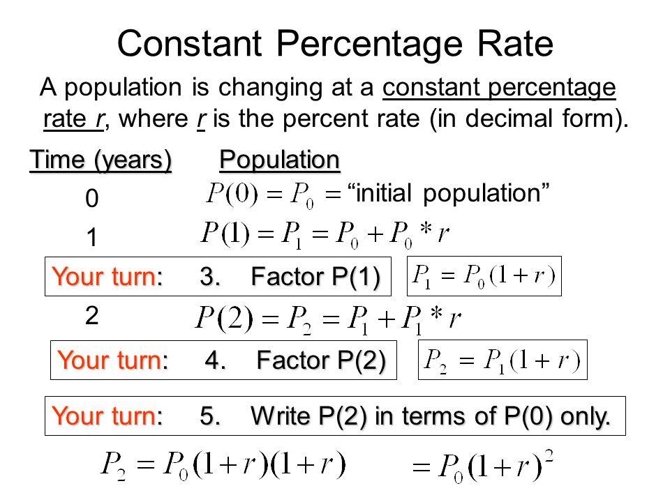 Constant Percentage Rate