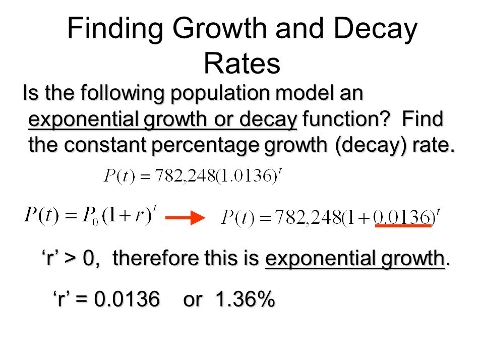 Finding Growth and Decay Rates