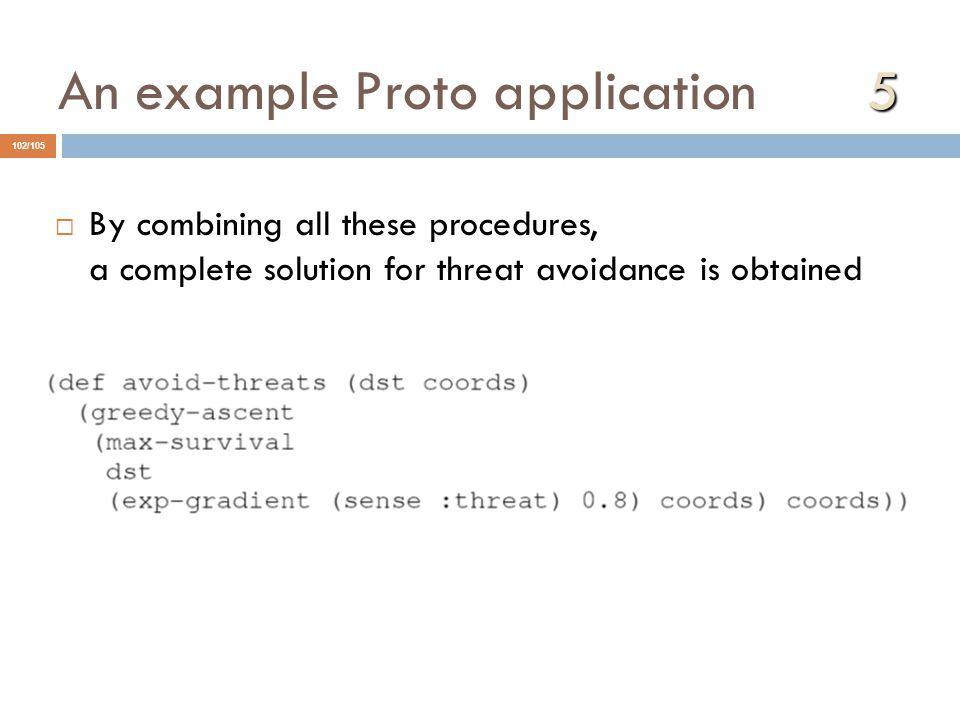 An example Proto application 5