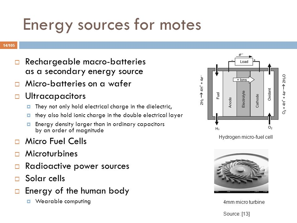 Energy sources for motes