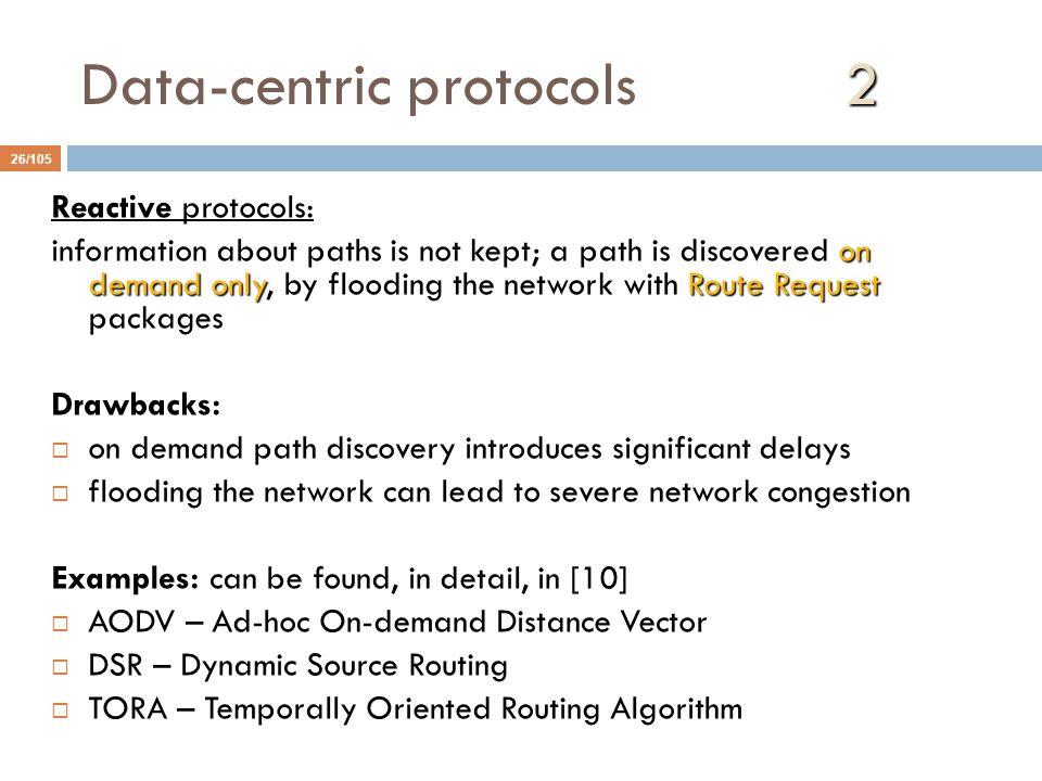 Data-centric protocols 2