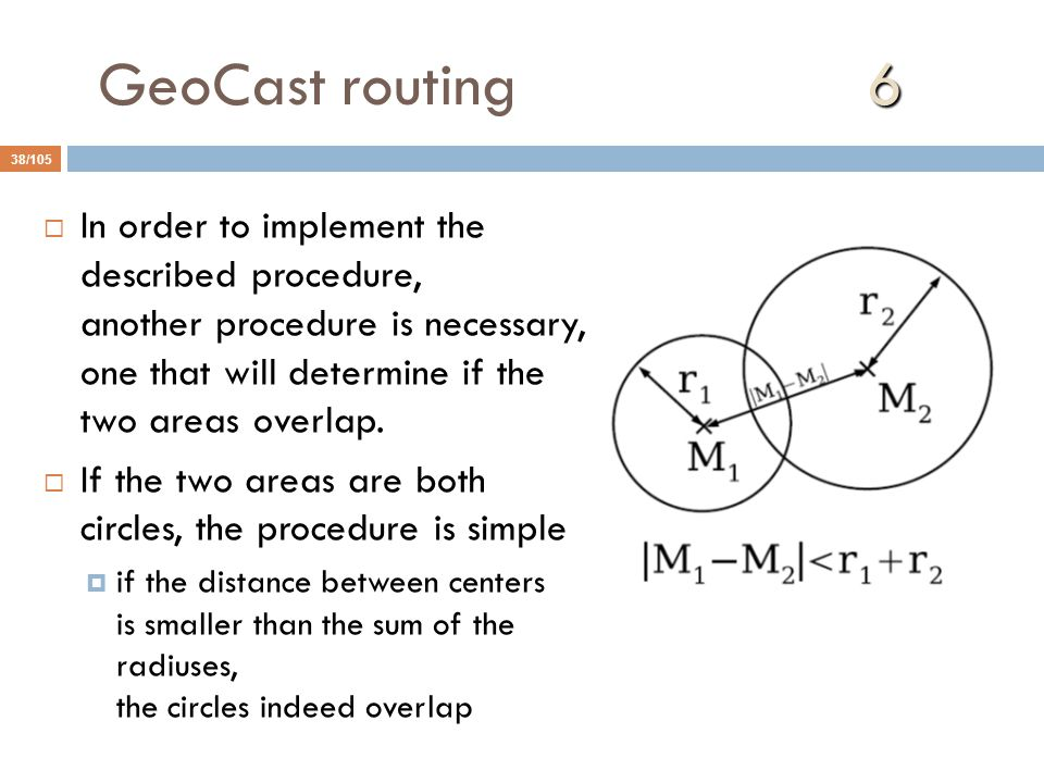 GeoCast routing 6