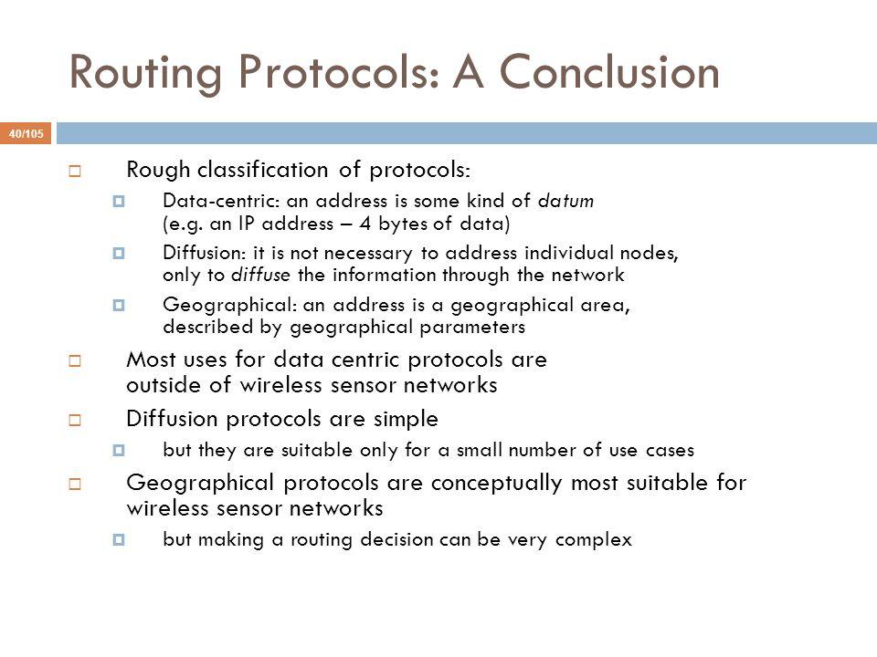 Routing Protocols: A Conclusion
