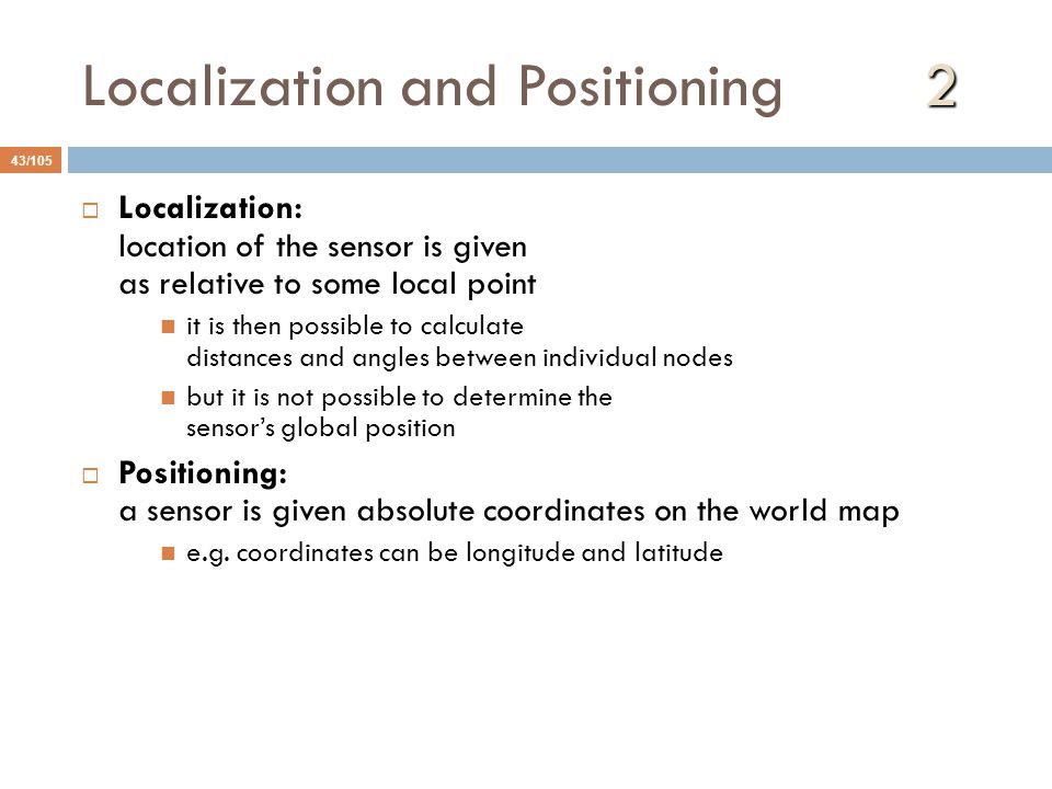 Localization and Positioning 2