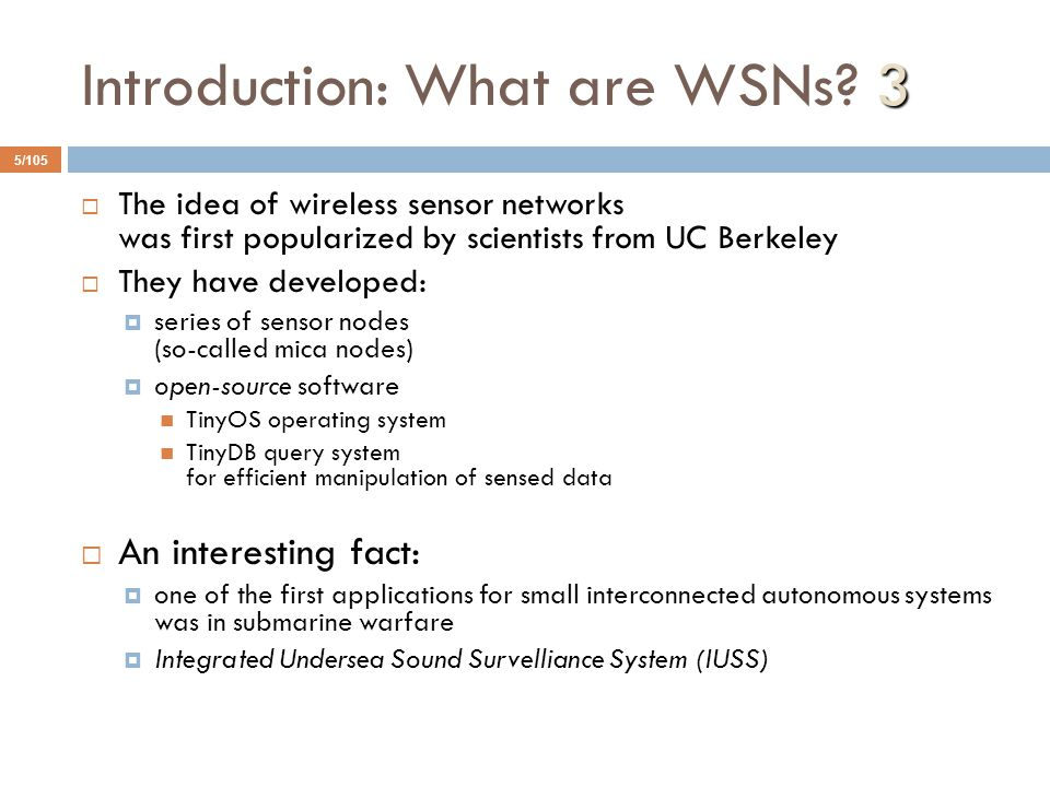 Introduction: What are WSNs 3