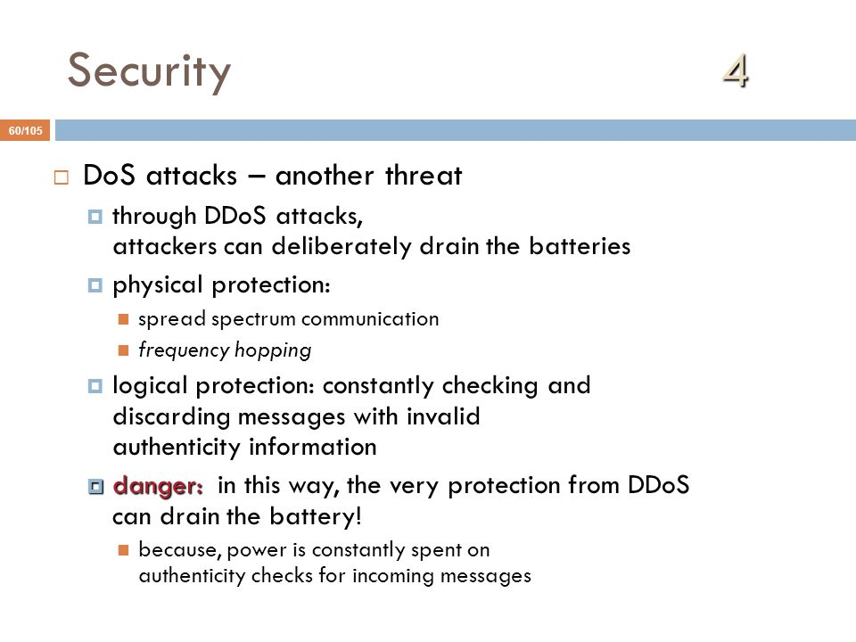 Security 4 DoS attacks – another threat