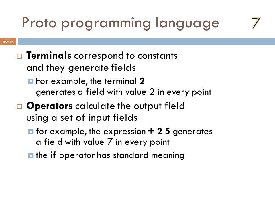 Proto programming language 7