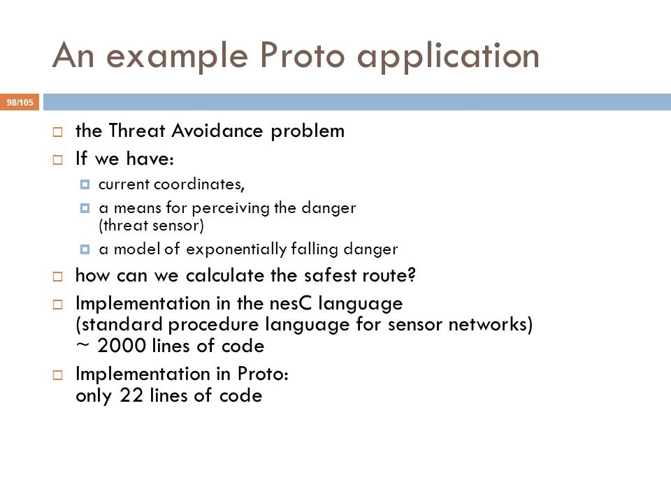 An example Proto application
