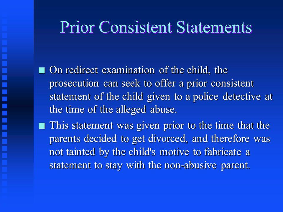 Prior Consistent Statements