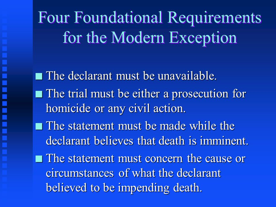Four Foundational Requirements for the Modern Exception