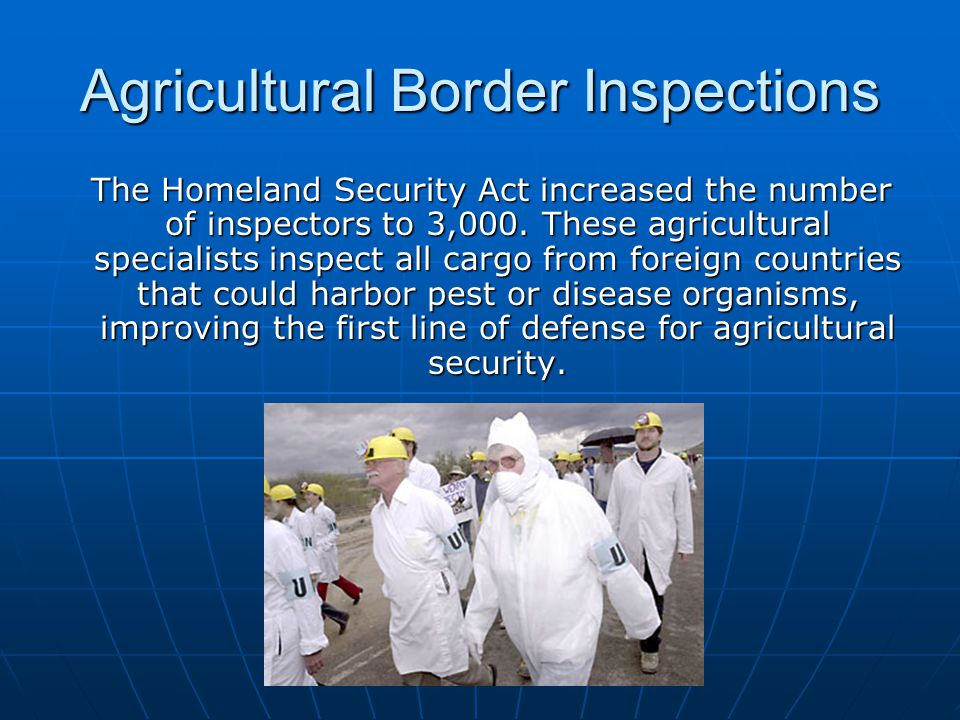Agricultural Border Inspections