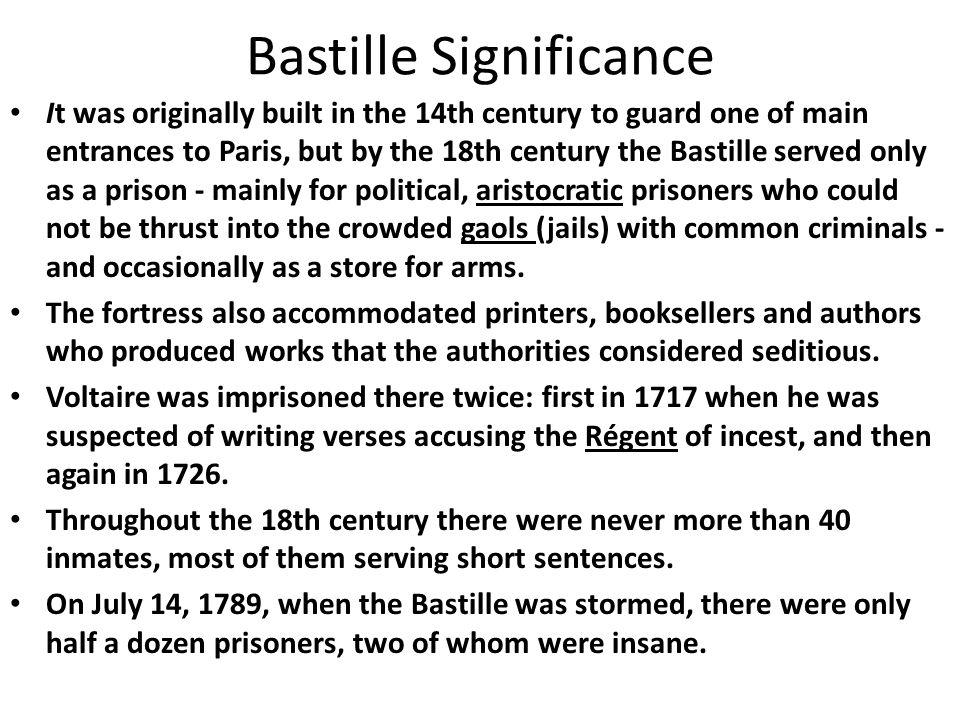 Bastille Significance