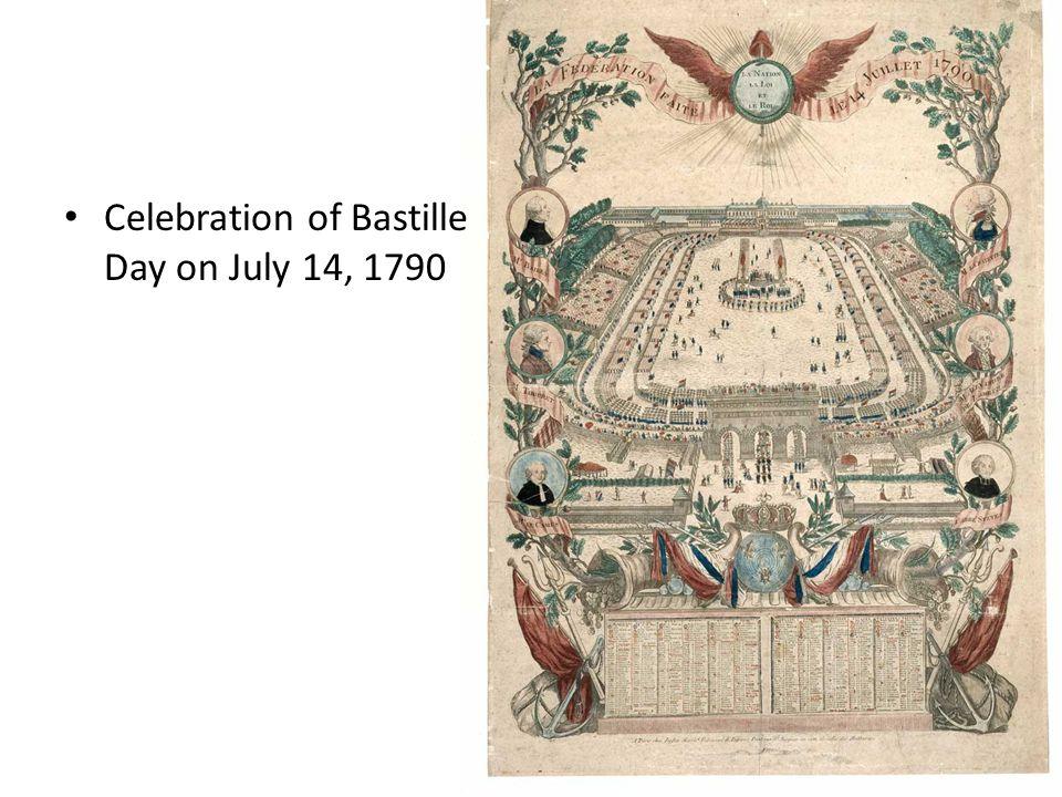 Celebration of Bastille Day on July 14, 1790