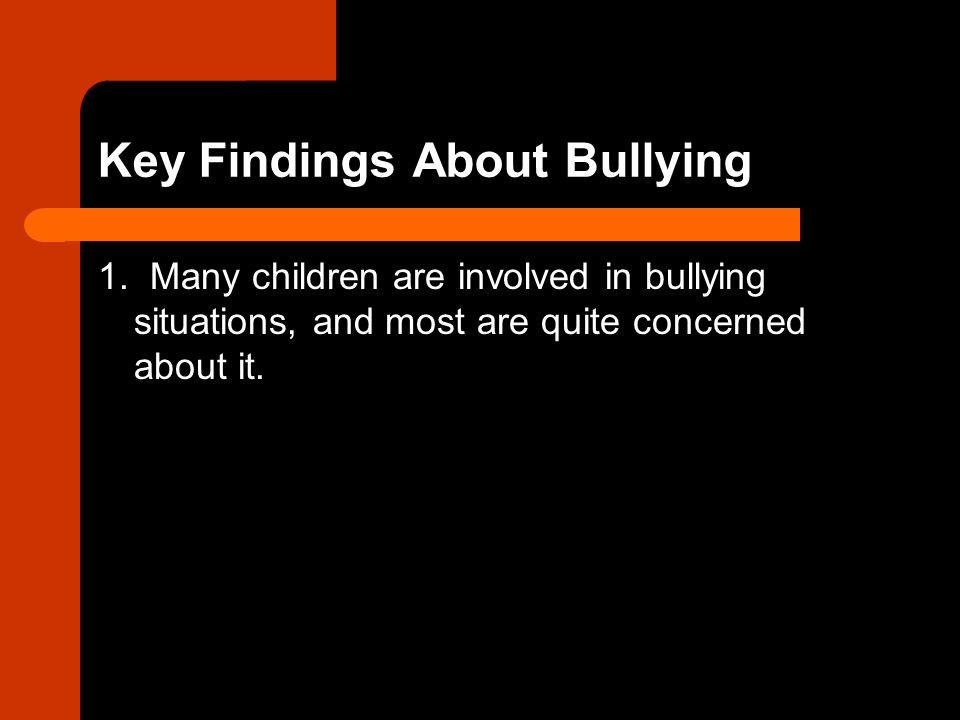 Key Findings About Bullying