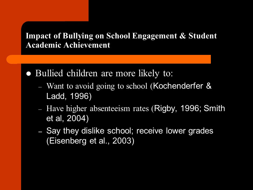 Impact of Bullying on School Engagement & Student Academic Achievement