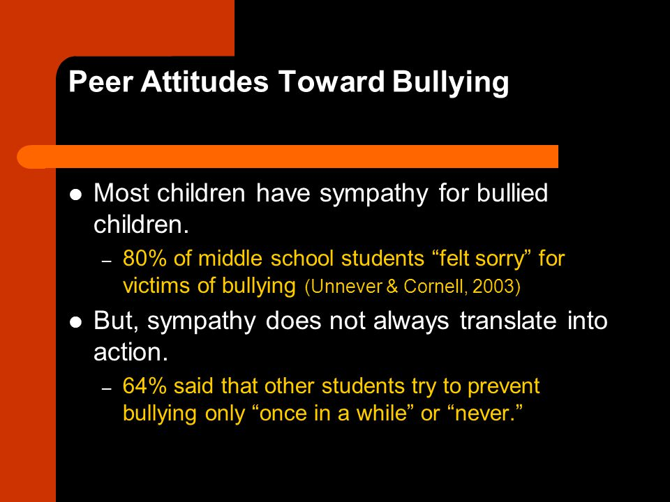 Peer Attitudes Toward Bullying