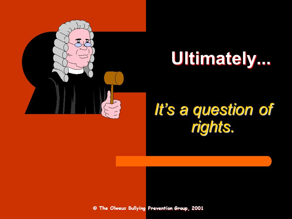 It's a question of rights.