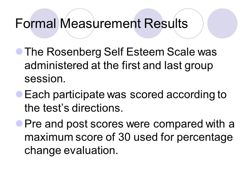 Formal Measurement Results