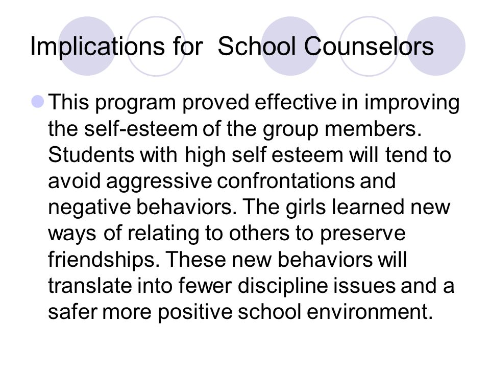 Implications for School Counselors