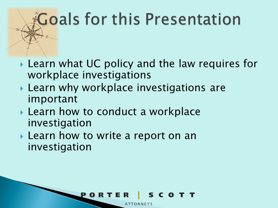 Goals for this Presentation